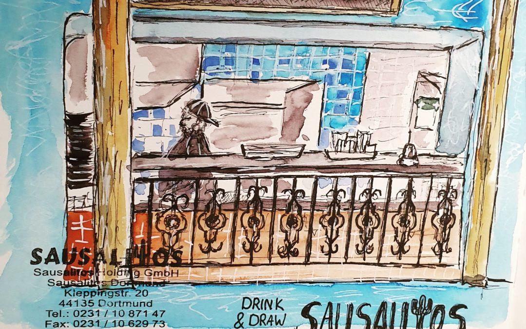 Drink and draw im Sausalitos Dortmund