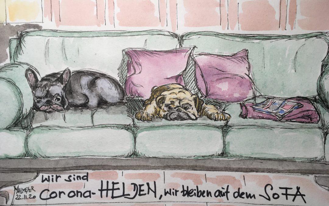 auf dem Sofa…