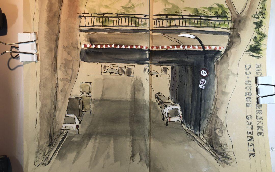 Brücke in der Gotenstrasse in Dortmund-Hörde